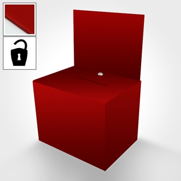 Red Ballot Box - Ideal for Meetings and Events
