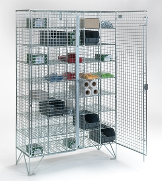 40 Compartment Wire Mesh Lockers With Double Doors