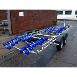 EXT3500 Super Roller Twin Axle Galvanized Boat Trailer