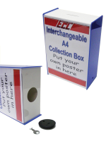 A4 Interchangable Collection Box with Lock & Key