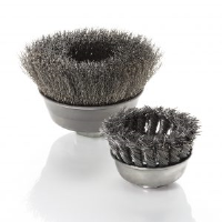 Cup-Shaped Brushes for Sandblasting
