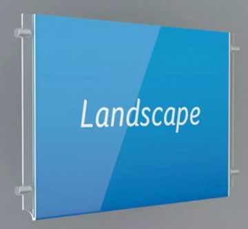 Double Sided Poster Display Holders Clear Perspex