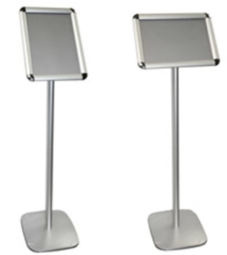 Exhibition Rotate Landscape Or Portrait Information Sign Holders For A4 And A3 Posters
