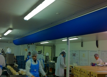Fabric Ducting for the Food Processing Industry