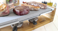 Stone Cooked Steak Sharing Stone Grill Set