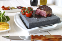 Steak Stone And Plate Set