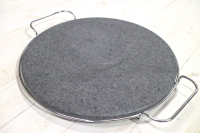 Round Granite Pizza Stone With Chrome Cooling Rack
