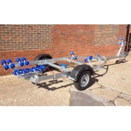 EXT1300 Swing galvanized boat trailer