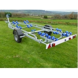 EXT3000 Super Roller twin axle galvanized boat trailer