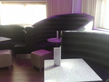 Curved Booth Roll Back Seating