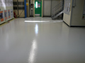 Chemically resistant resin flooring