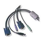 10 Mtr KVM Cable for PS2 Switch -USB Multiplatform Computer