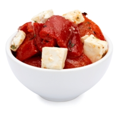 Red Pepper With Feta Marinade