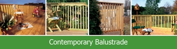 Contemporary Softwood Balustrades
