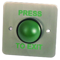 Asec EBGB 02 Green Dome Exit Button With Tamper Proof Collar