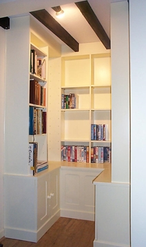 Alcove Shelves & Cupboards