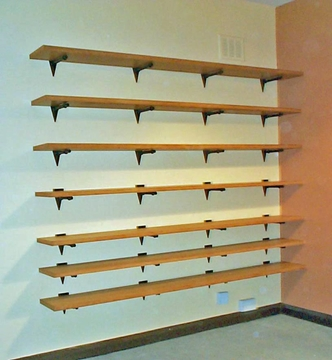 Real Wood Veneer Shelves