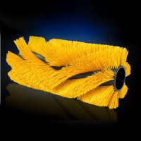 External Coiled Bristle and Hair Fill Brush Strips