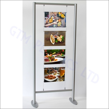 Floor Standing Cable Display - 1x4 A3 Landscape Configuration