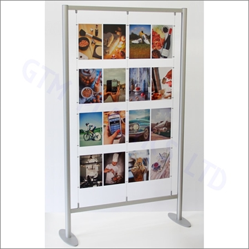 Floor Standing Cable Display - 4x4 A4 Portrait Configuration