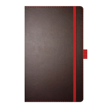 Phoenix Brown Notepad with Red Trim and Gilt Page Edges