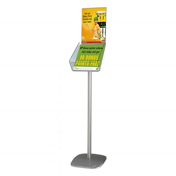 Freestanding A4 Catalogue Dispenser With Or Without Header