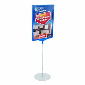 Showcard Sign Stand With Round Base
