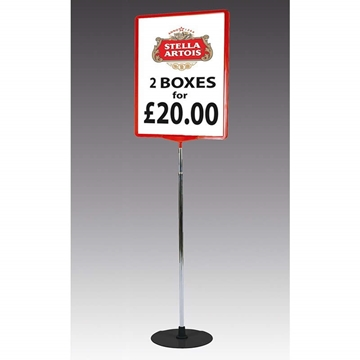 Show Card or Poster Stand With Heavy Round Base
