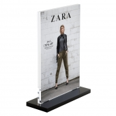 Couter Standing Acrylic Block Sign Holder