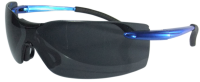 BC2185 - Smoked Safety Glasses - Blue Arms