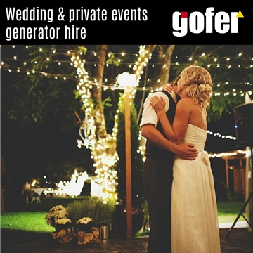 Wedding and Private Events Generator Hire