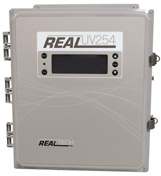 Realtech flow through UV254nm aborbsion & transmissivity monitors