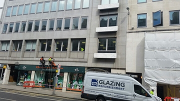 Abseil Division Complete Office Block Building Inspection