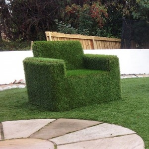 Artificial Grass Covered Childs Chair