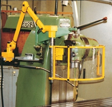 Safety devices for sawing machine