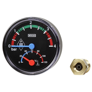 Bimetal thermomanometer Eco