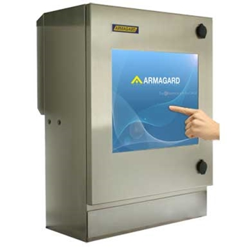 Compact Waterproof Touch Screen Enclosure For Factories