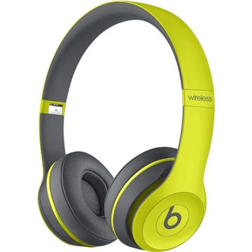 Beats by Dr. Dre Solo2 Wired/Wireless Bluetooth Stereo Headset - Over-the-head - Circumaural - Yellow