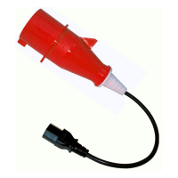 415V 16A, 5 Pin to IEC - Extension Lead PAT Adaptor