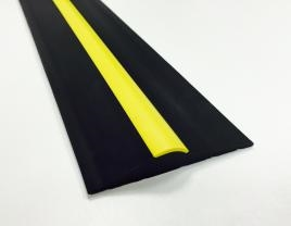 15mm Black Yellow Stripe Rubber Threshold Seal