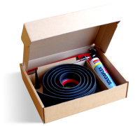 Rubber Floor Seal Kit Black/Red Stripe