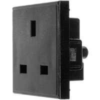 13 AMP SOCKET OUTLET IN BLACK