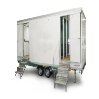 Bespoke Eco friendly mobile canteen with separate toilet, drying room & office/storage for 10