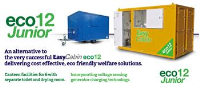 Eco friendly mobile canteen with separate toilet and drying roomfor 6