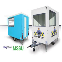 Mobile Site Security Unit With Separate Wash Room Facilities