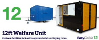 Mobile canteen facilities for 6 with separate toilet and drying room