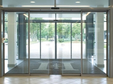 Automatic Glass Revolving Doors In Essex