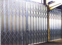 Galvanised Folding Shutter Doors