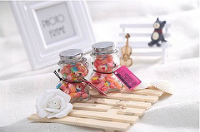 Custom confectionery Glass Jars