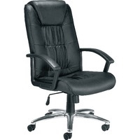 Leather Faced Executive Black Chair